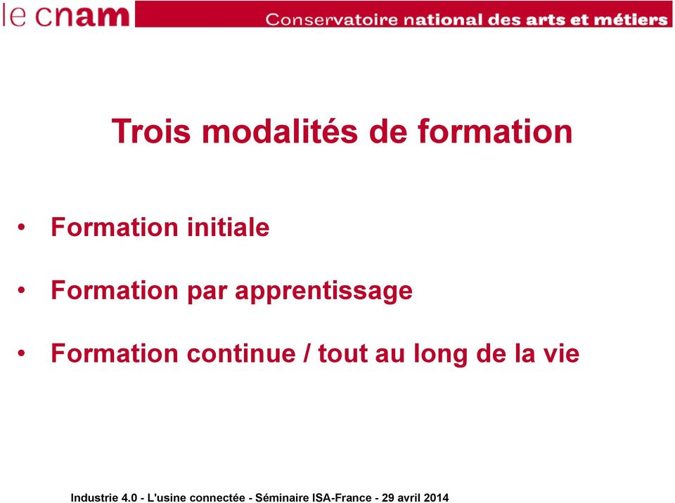 par apprentissage Formation