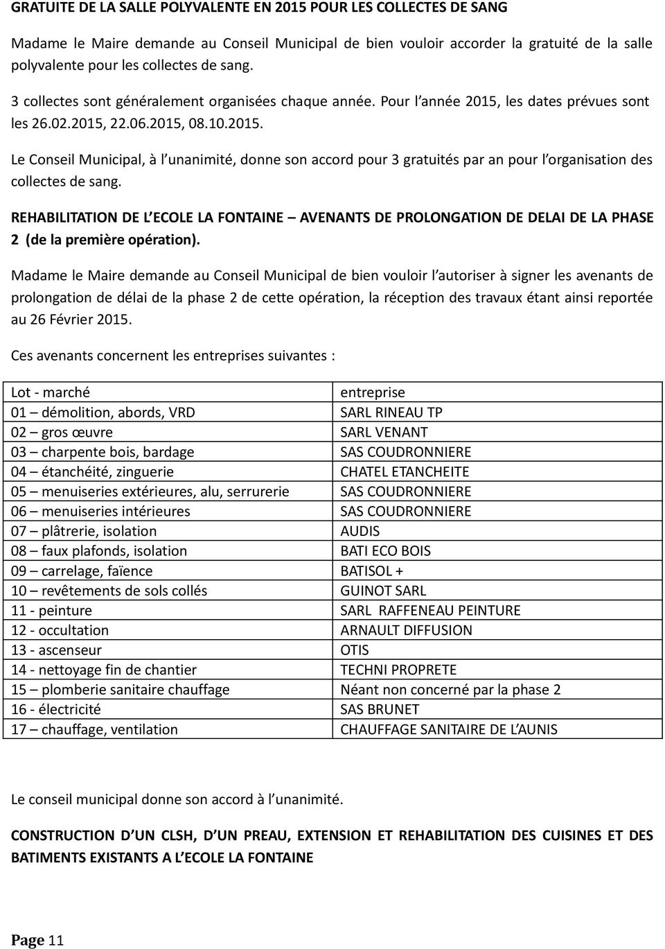 Proces verbal du conseil municipal s ance du 19 f vrier pdf - Proces verbal de reception de travaux ...