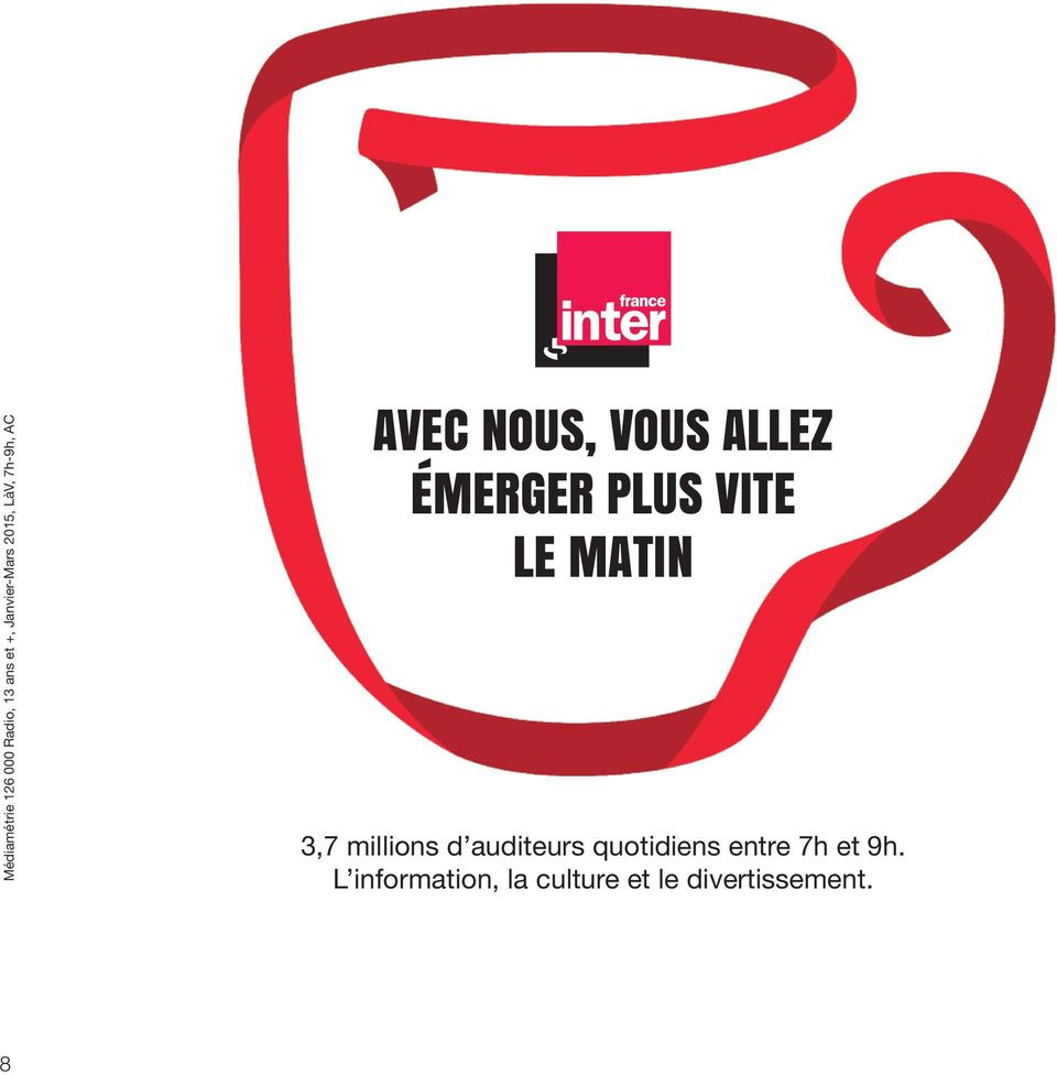 VITE LE MATIN 3,7 millions d auditeurs quotidiens entre