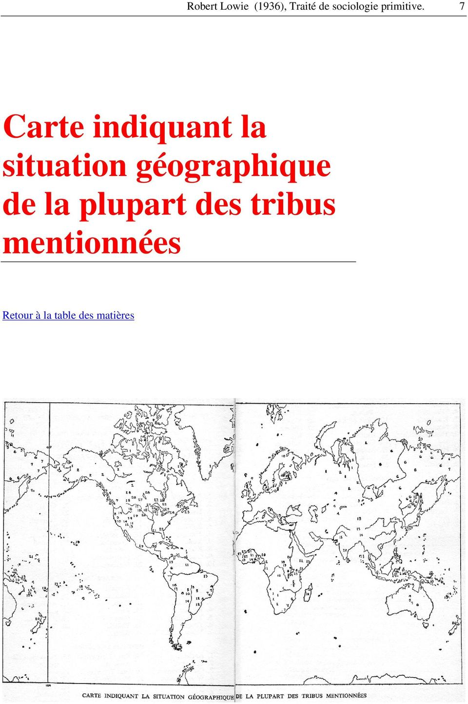 7 Carte indiquant la situation