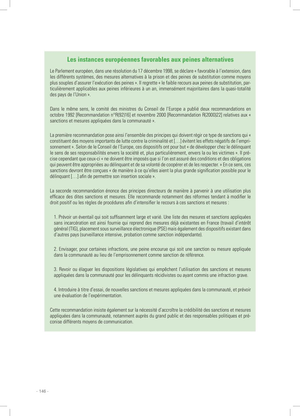 Les mesures alternatives l incarc ration pdf for Chambre commerciale 13 octobre 1992
