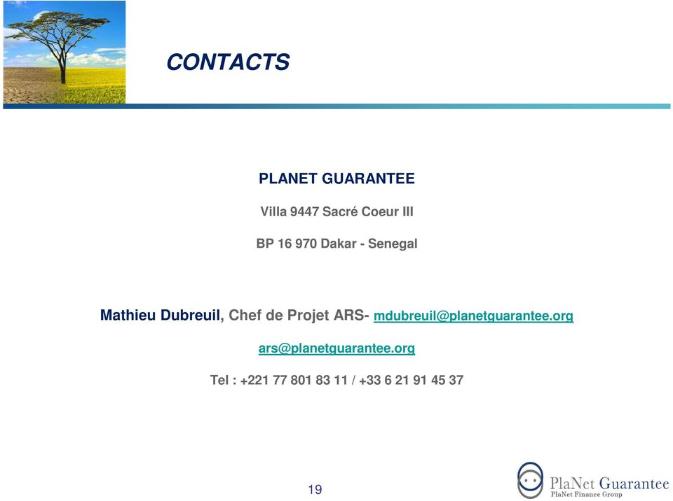 Projet ARS- mdubreuil@planetguarantee.