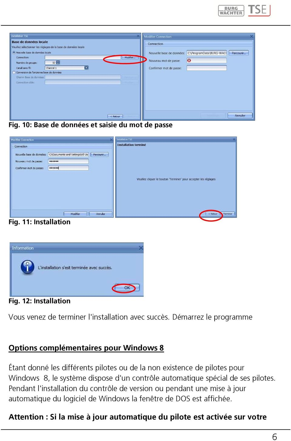 Notice d 39 utilisation progiciel de gestion tse for Fenetre dos windows 8
