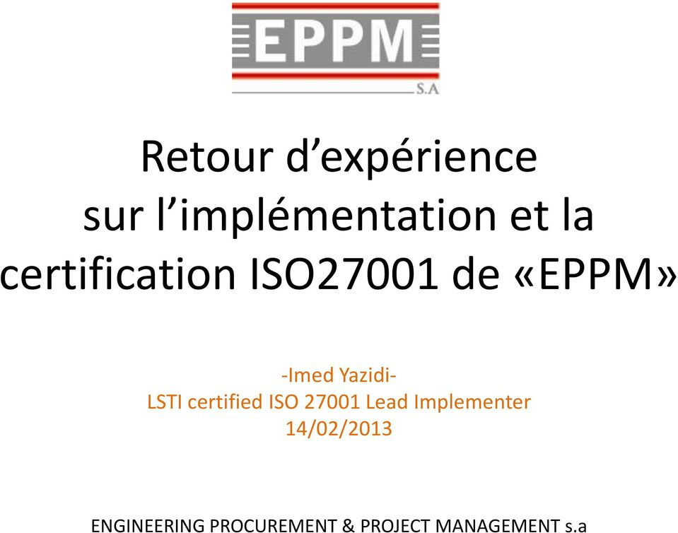 LSTI certified ISO 27001 Lead Implementer