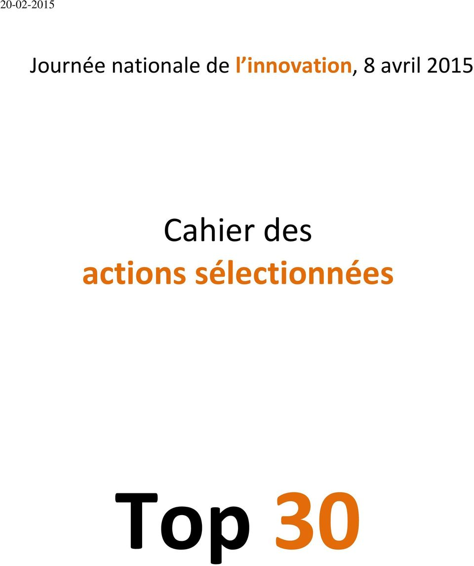 innovation, 8 avril 2015
