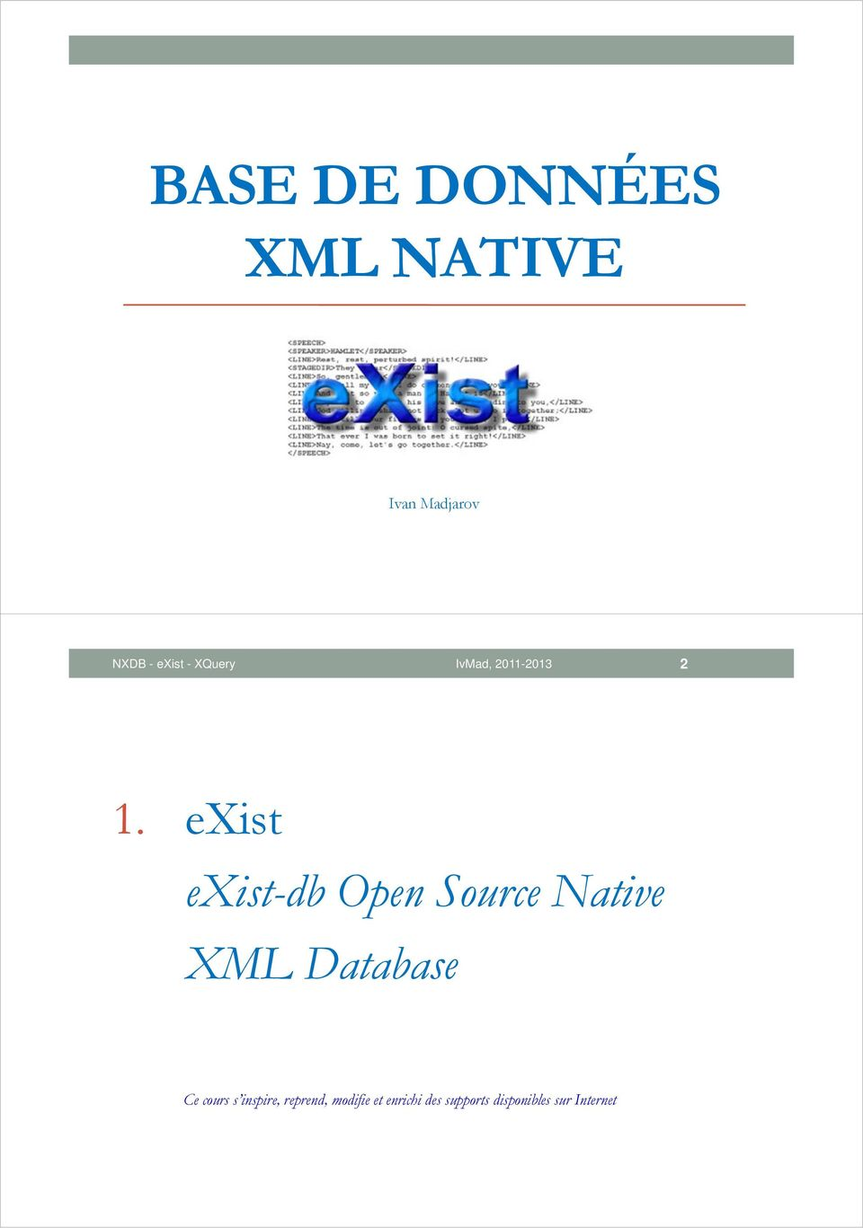 exist exist-db Open Source Native XML Database Ce
