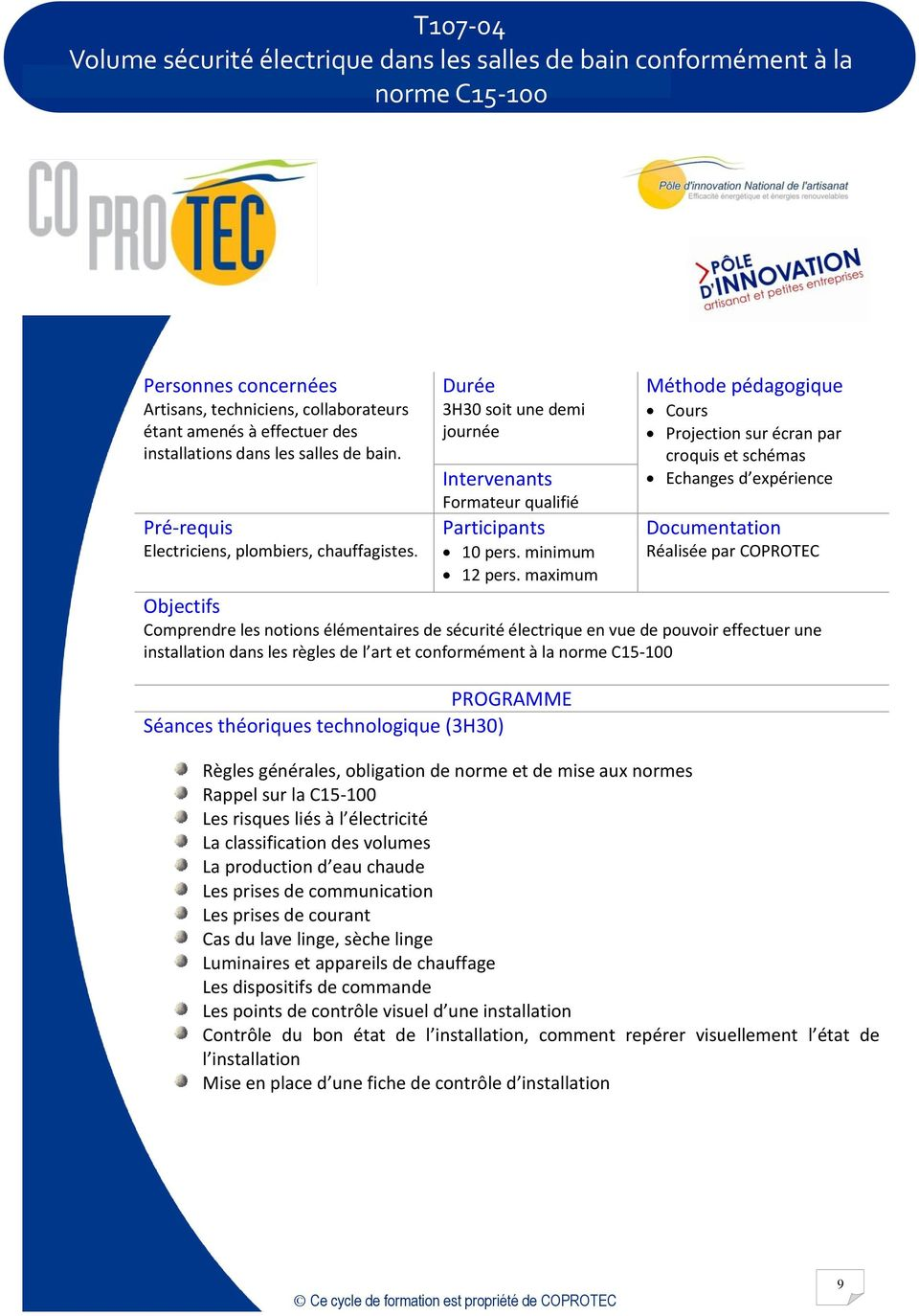 Catalogue de formation pdf - Mise aux normes electricite obligation ...
