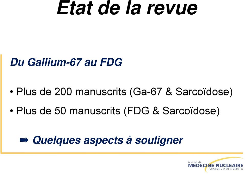 Sarcoïdose) Plus de 50 manuscrits