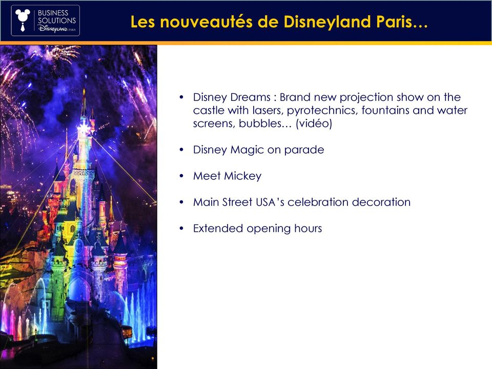 CONTENT fountains and water screens, bubbles (vidéo) Disney Magic on
