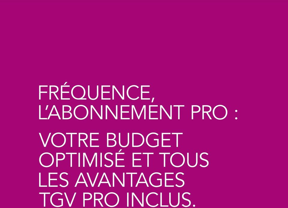 BUDGET OPTIMISÉ ET