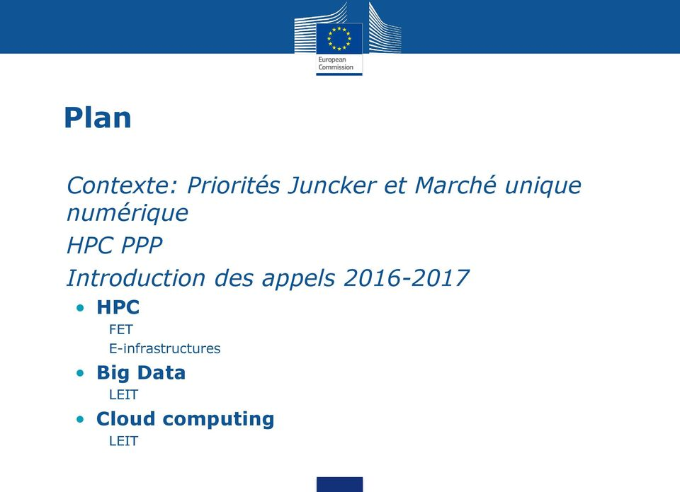 Introduction des appels 2016-2017 HPC