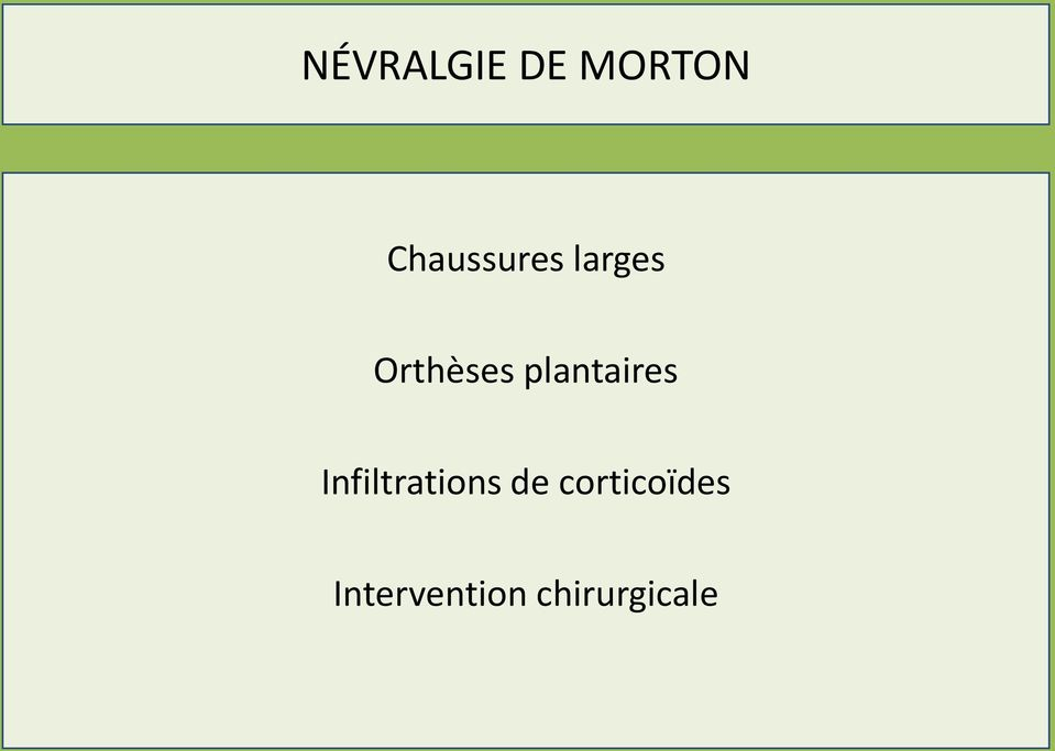 plantaires Infiltrations de