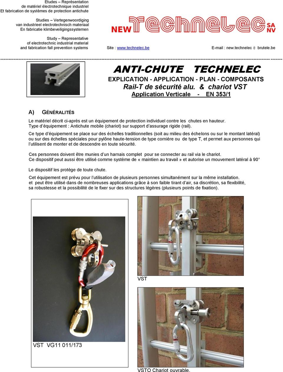 be ------------------------------------------------------------------------------------------------------------------------------------------------------------------- ------- ANTI-CHUTE TECHNELEC