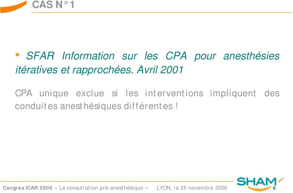 Avril 2001 CPA unique exclue si les