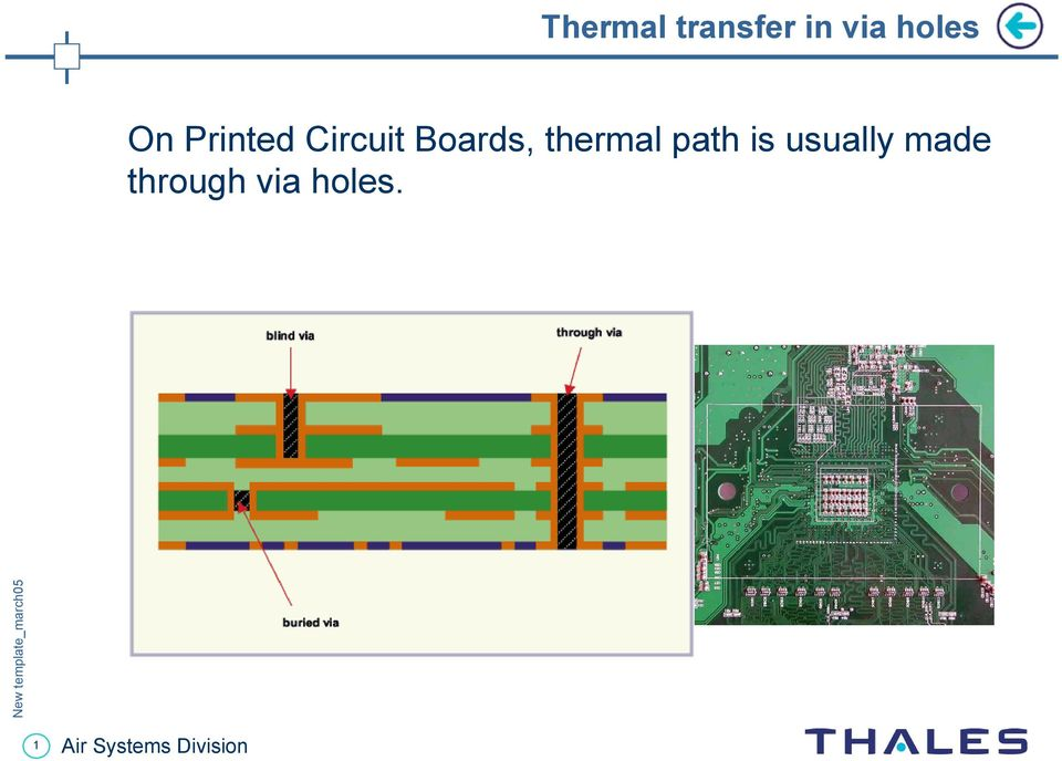 Boards, thermal path is
