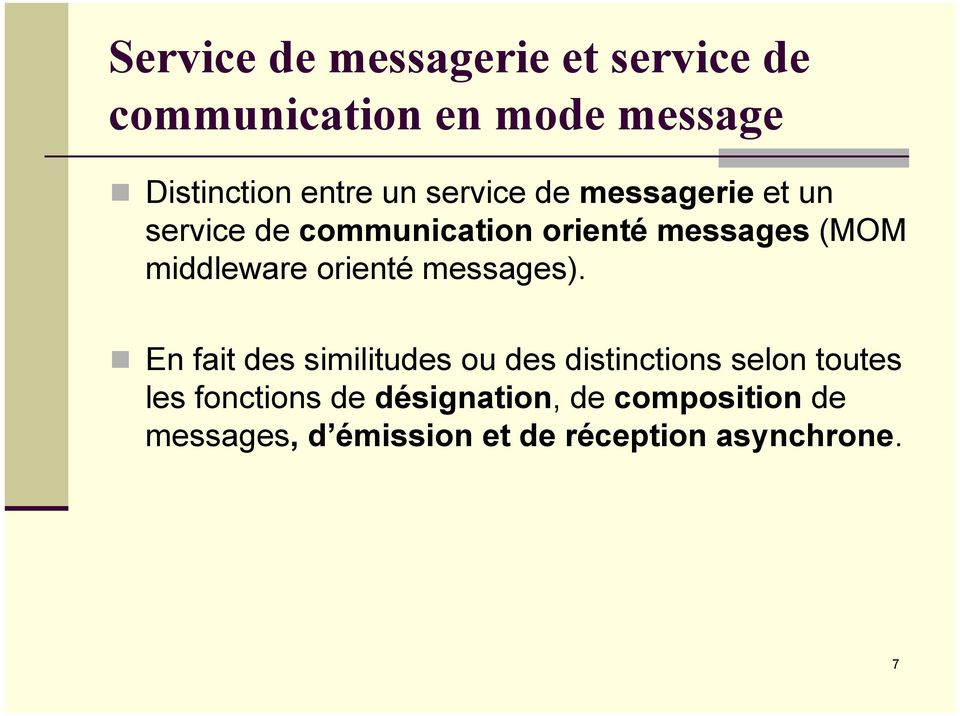 middleware orienté messages).
