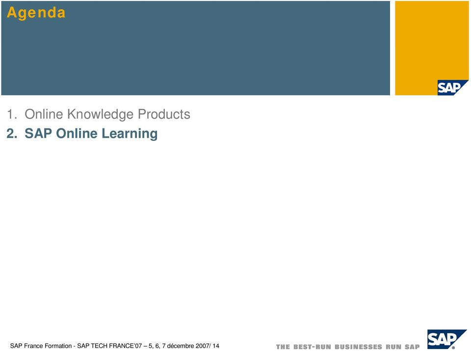 SAP Online Learning SAP France