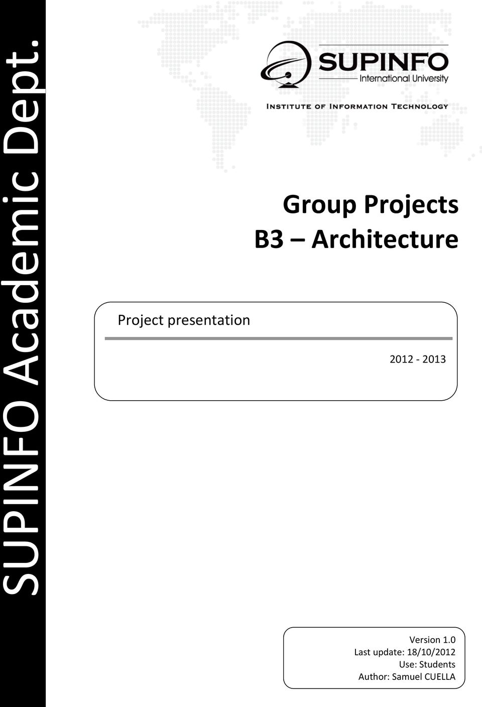 Projects 2012-2013 Version 1.