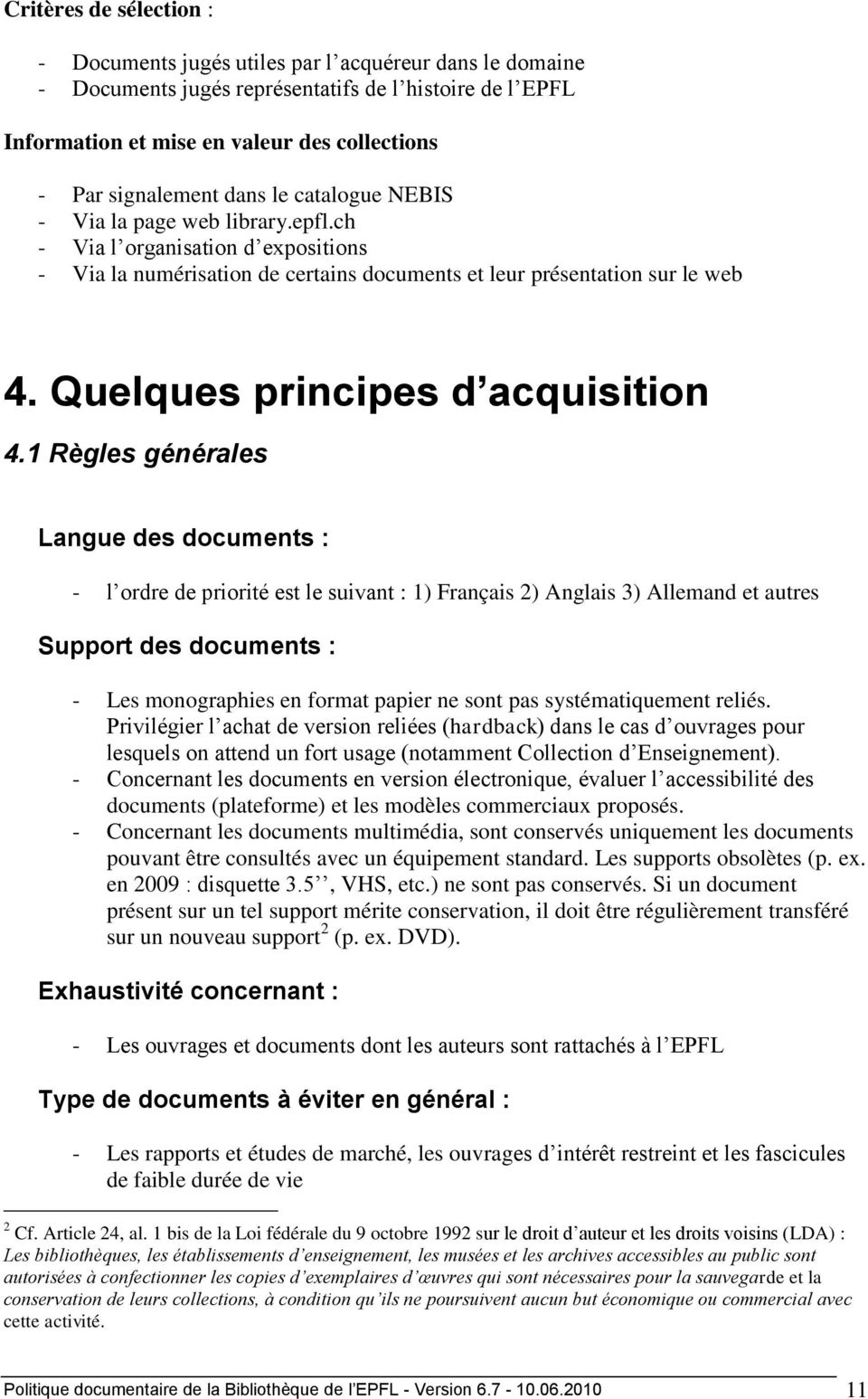 Quelques principes d acquisition 4.