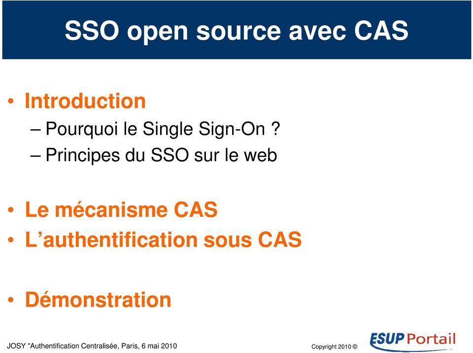 Principes du SSO sur le web Le