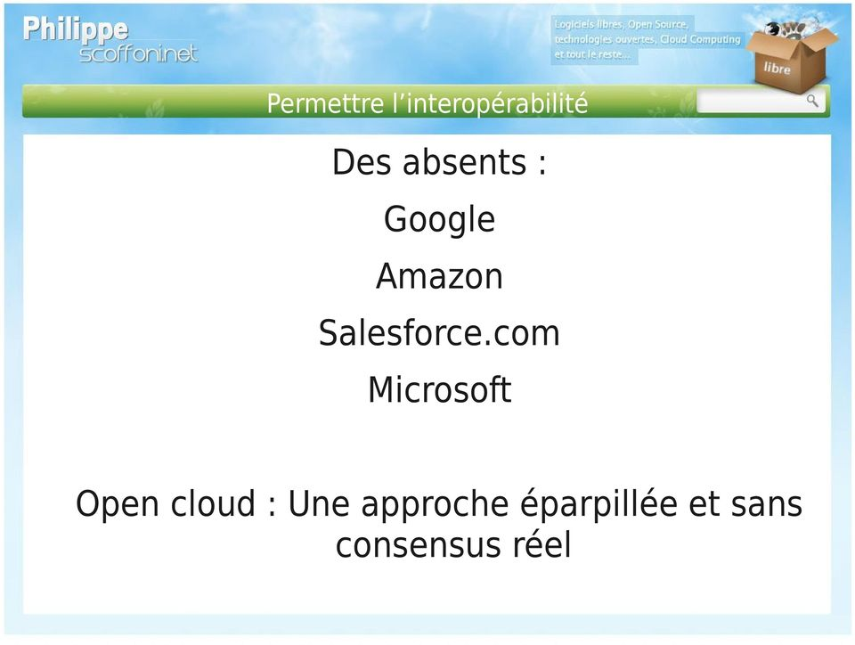 com Microsoft Open cloud : Une
