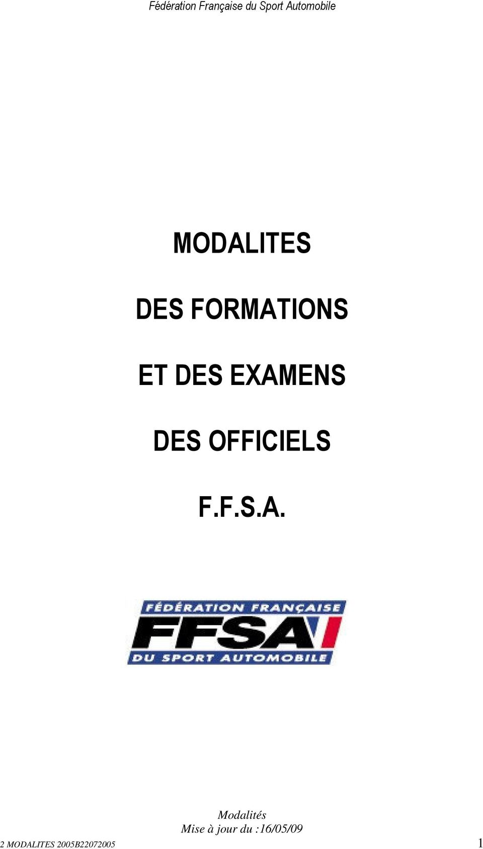 OFFICIELS F.F.S.A.