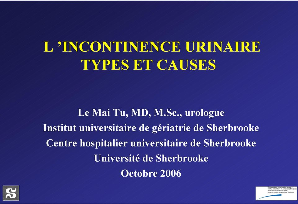 , urologue Institut universitaire de gériatrie de