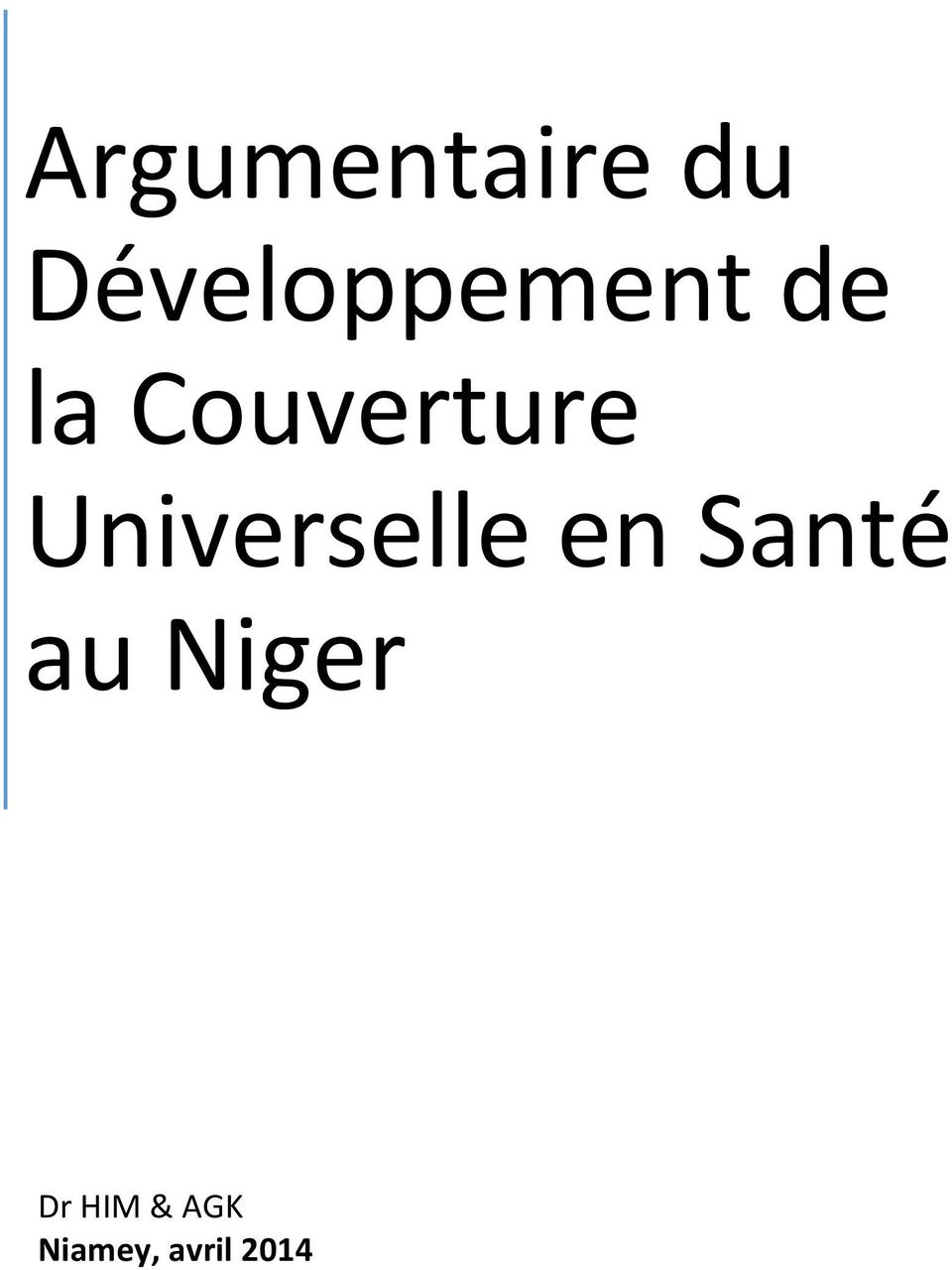 Couverture Universelle en
