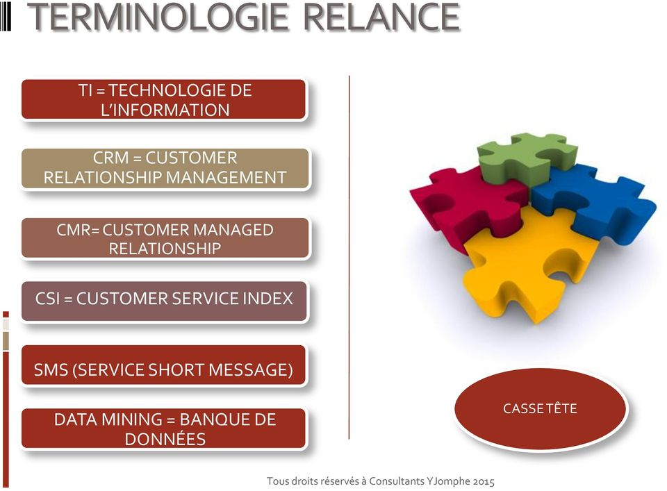 MANAGED RELATIONSHIP CSI = CUSTOMER SERVICE INDEX SMS