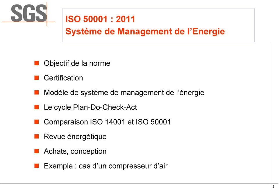 cycle Plan-Do-Check-Act Comparaison ISO 14001 et ISO 50001 Revue