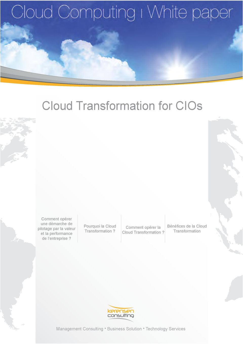 Pourquoi la Cloud Transformation?