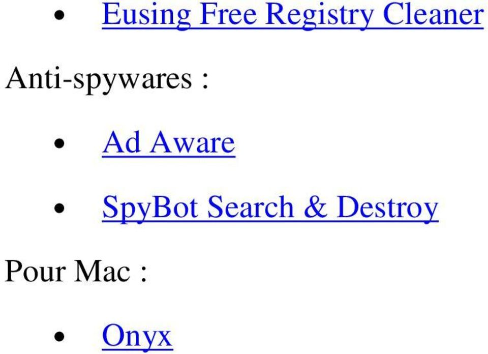 Ad Aware SpyBot Search