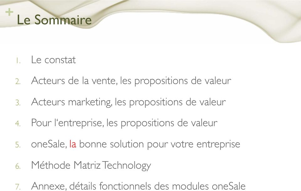 "! Acteurs marketing, les propositions de valeur"" 4."