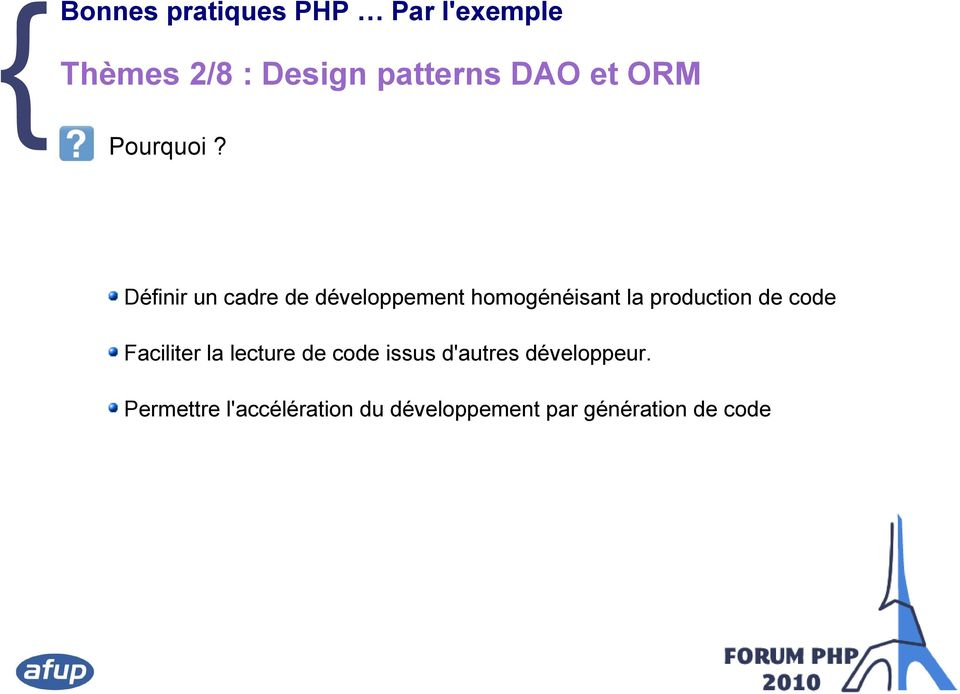 production de code Faciliter la lecture de code issus