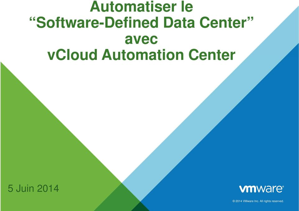 avec vcloud Automation Center