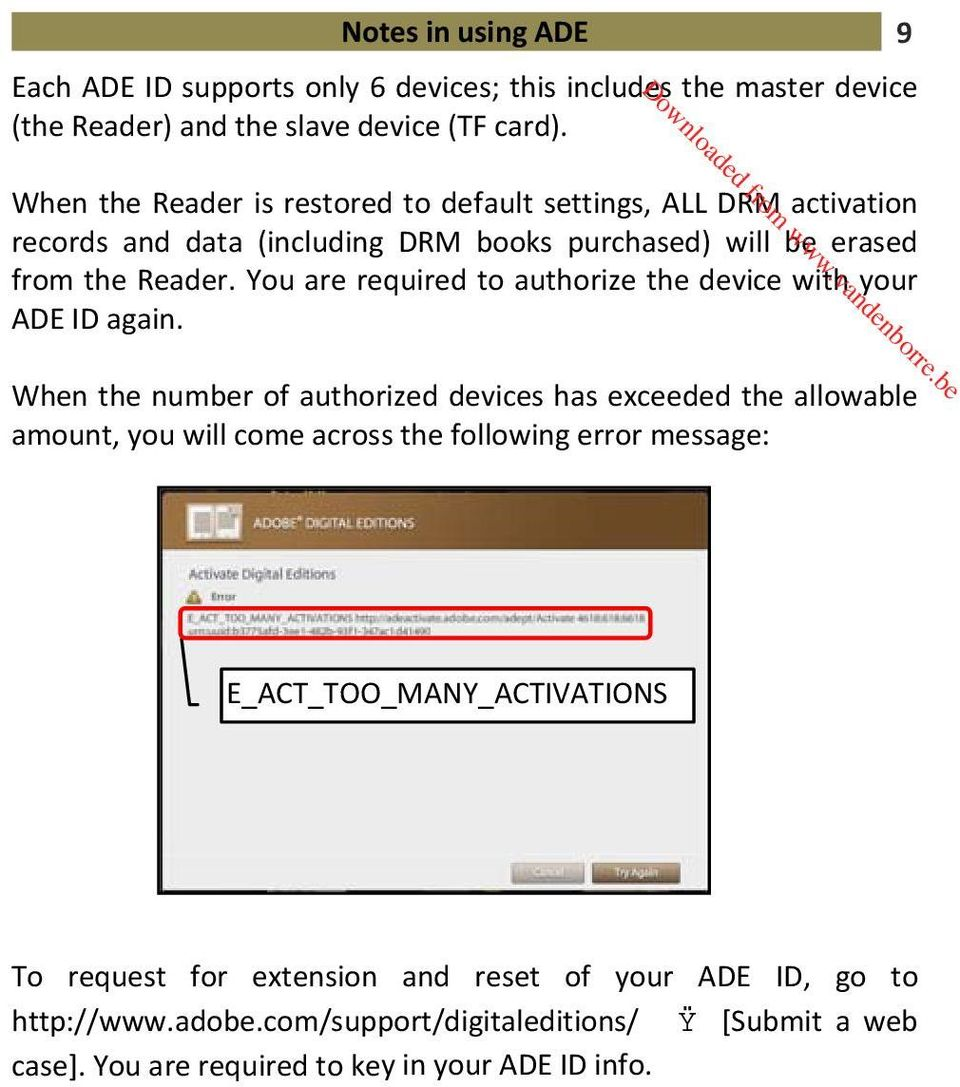 You are required to authorize the device with your ADE ID again.
