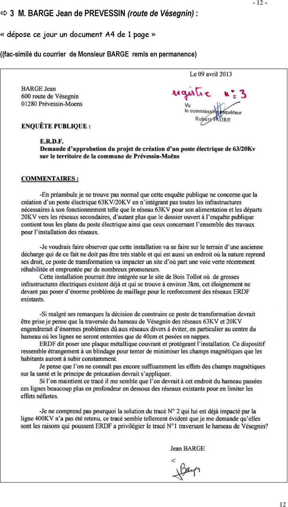 document A4 de 1 page» ((fac-similé du