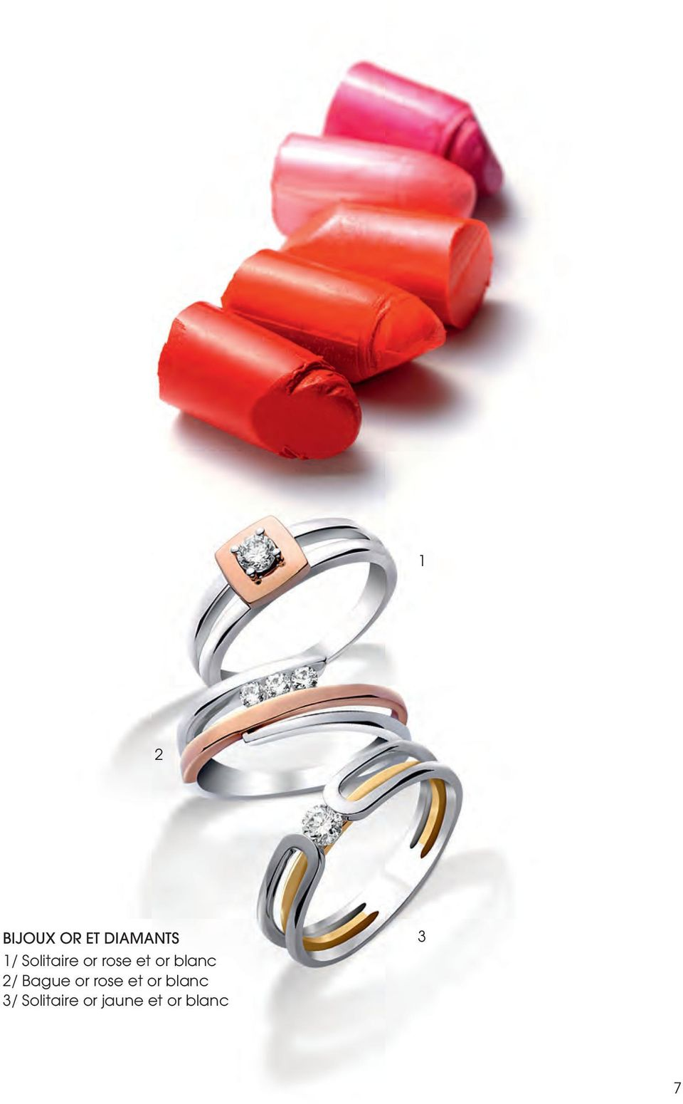 / Bague or rose et or blanc /
