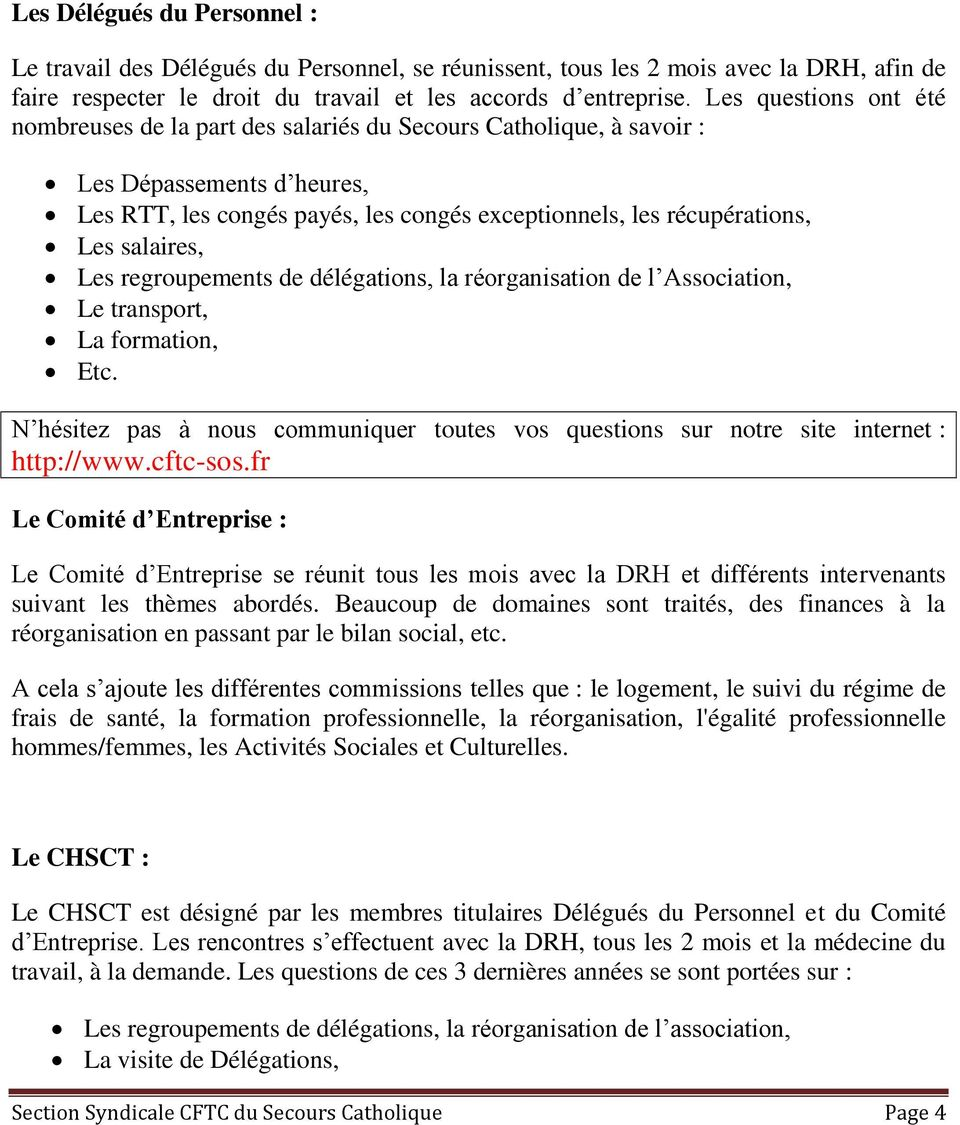 rencontres syndicales