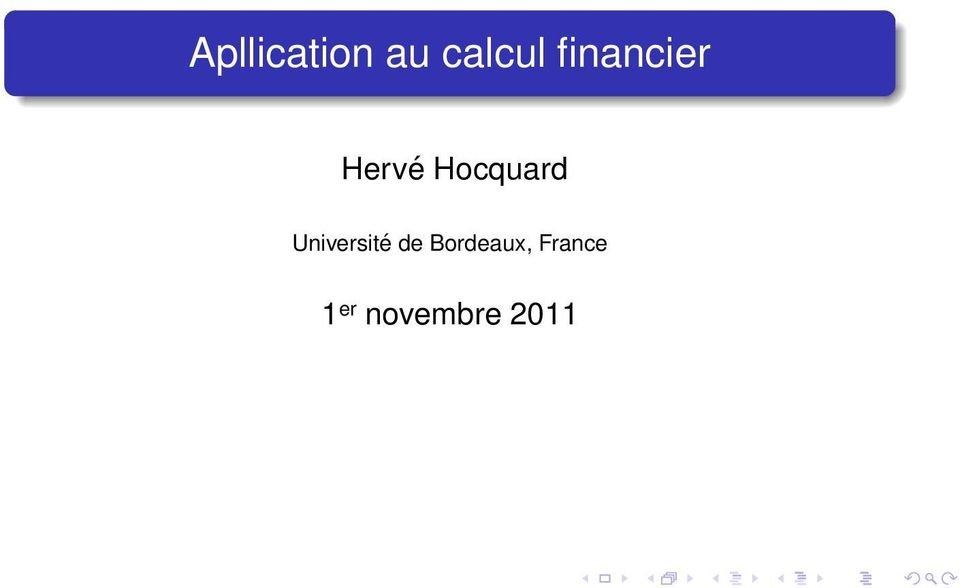 Hocquard Université de