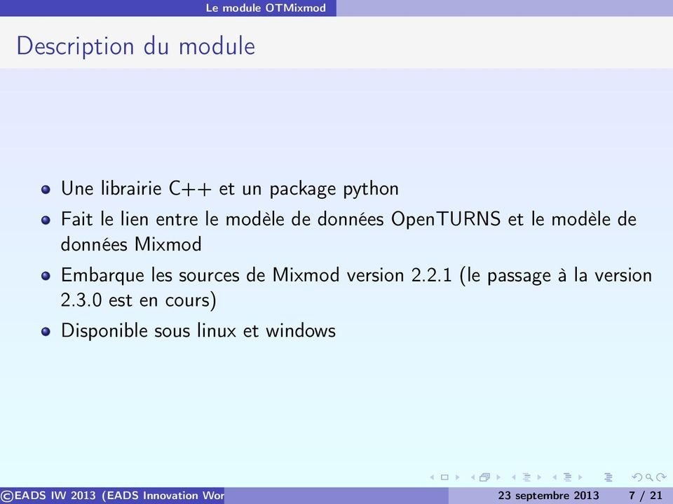les sources de Mixmod version 2.2.1 (le passage à la version 2.3.