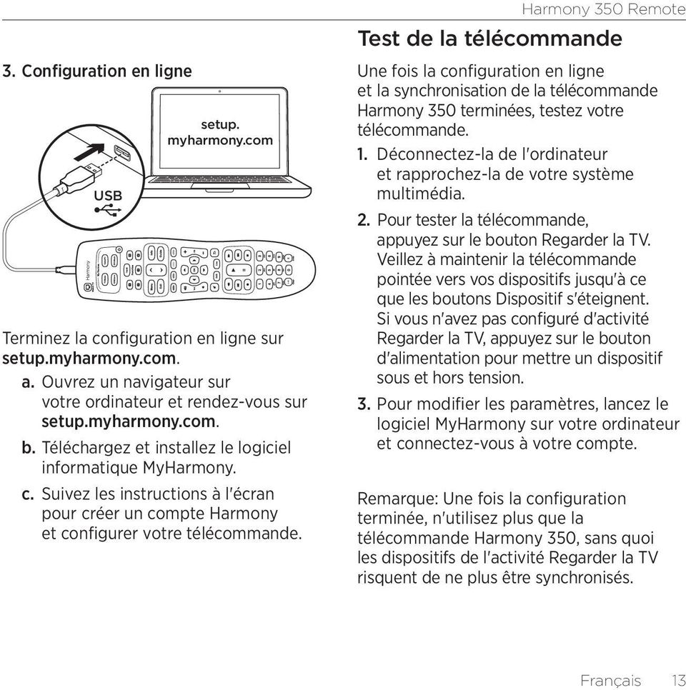 harmony tv remote instructions