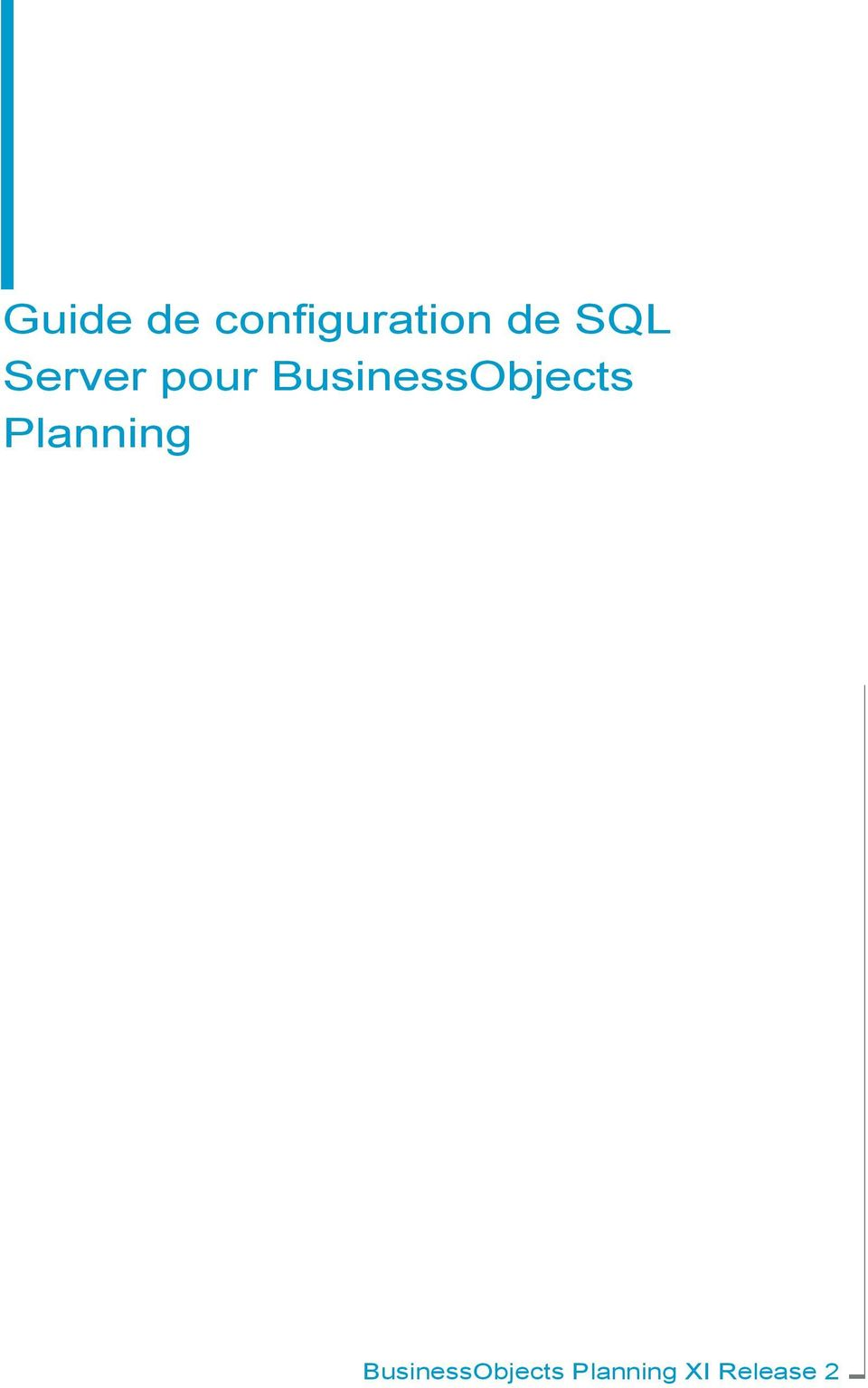 BusinessObjects Planning