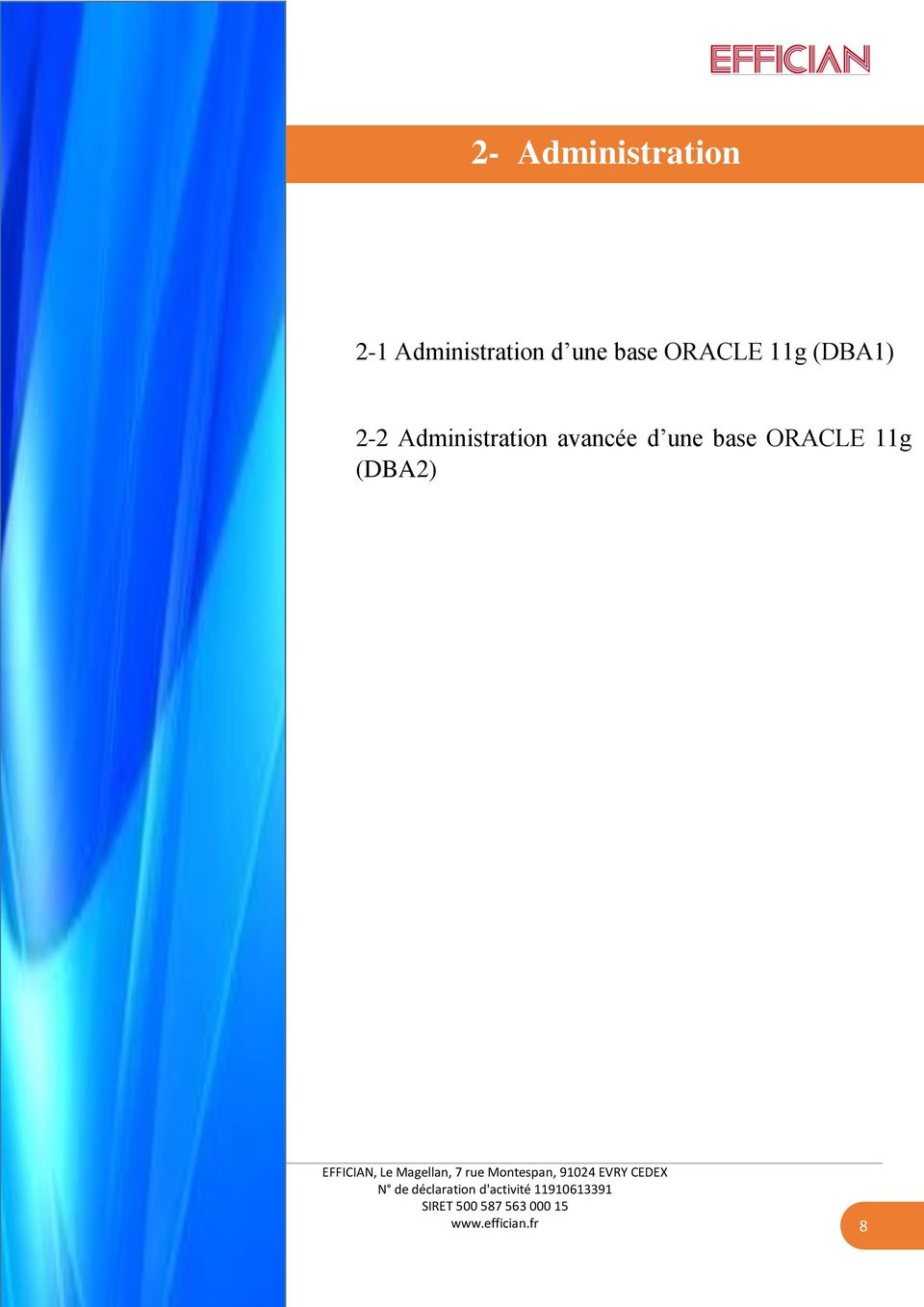 ORACLE 11g (DBA1) 2-2