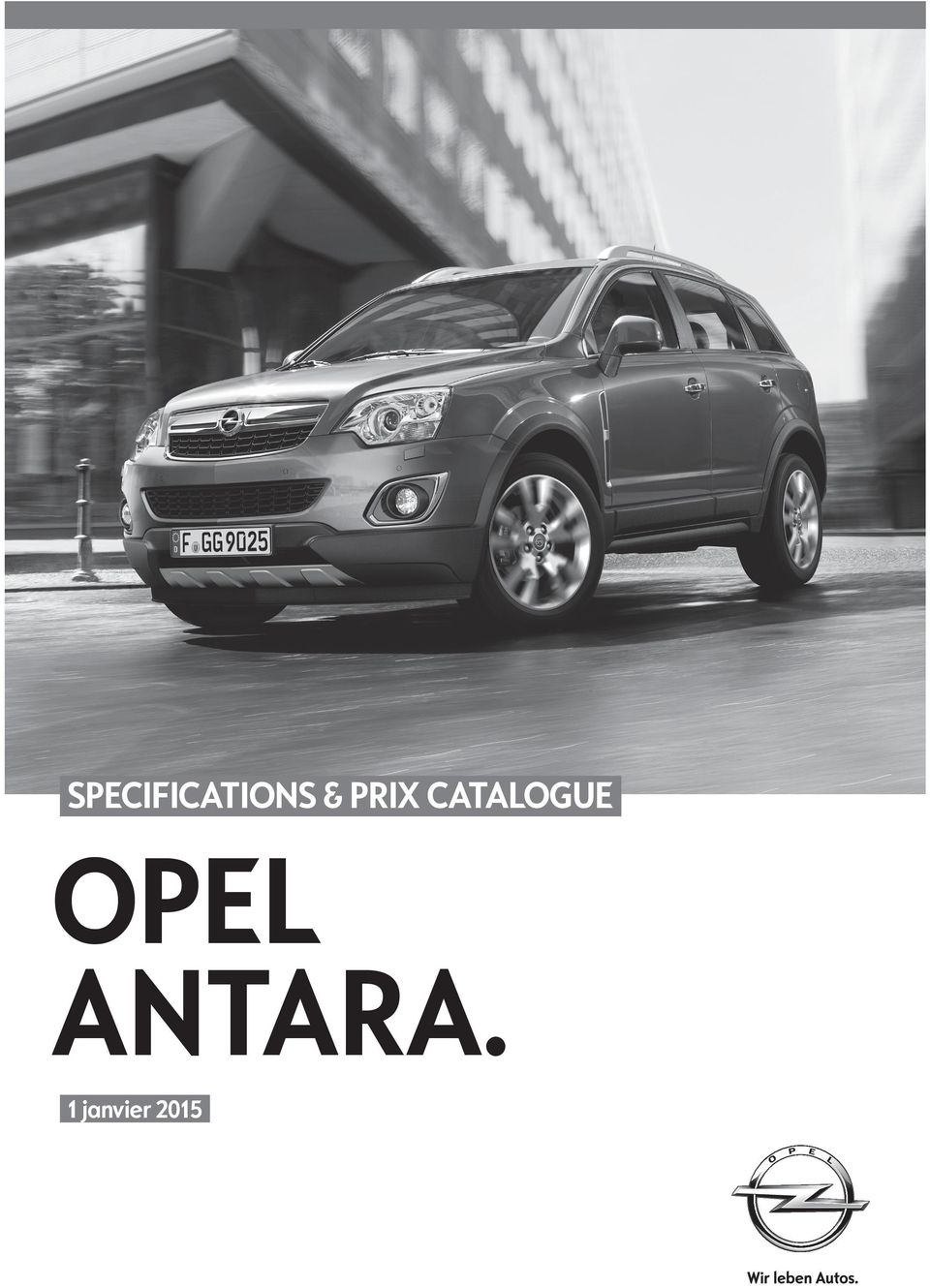 specifications prix catalogue opel antara 1 janvier pdf. Black Bedroom Furniture Sets. Home Design Ideas