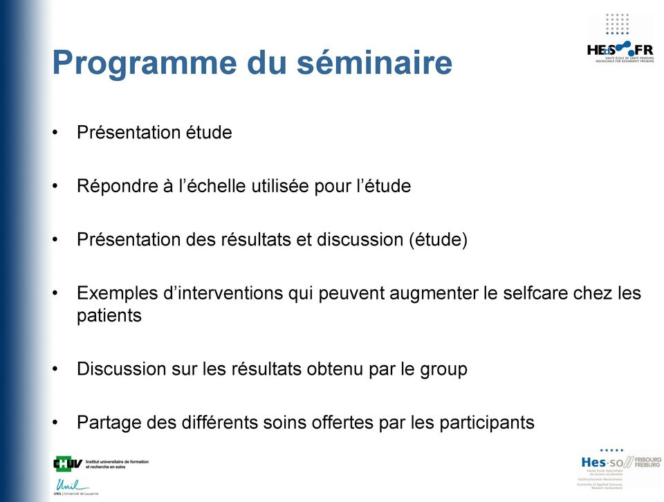qui peuvent augmenter le selfcare chez les patients Discussion sur les