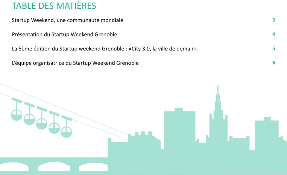 édition du Startup weekend Grenoble : «City 3.