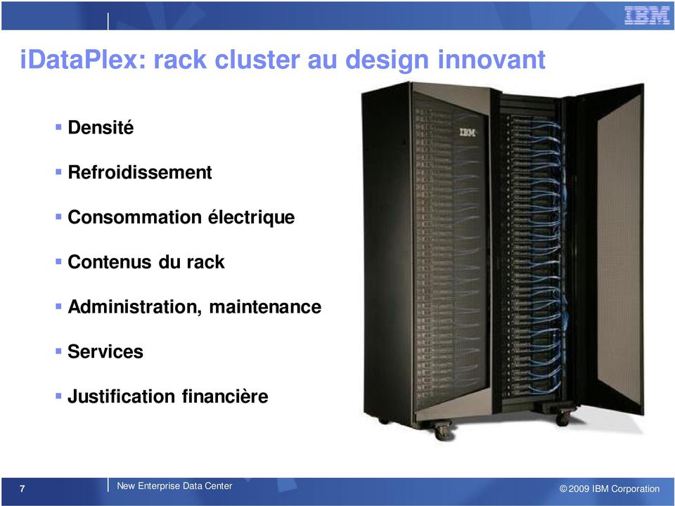 Contenus du rack Administration, maintenance