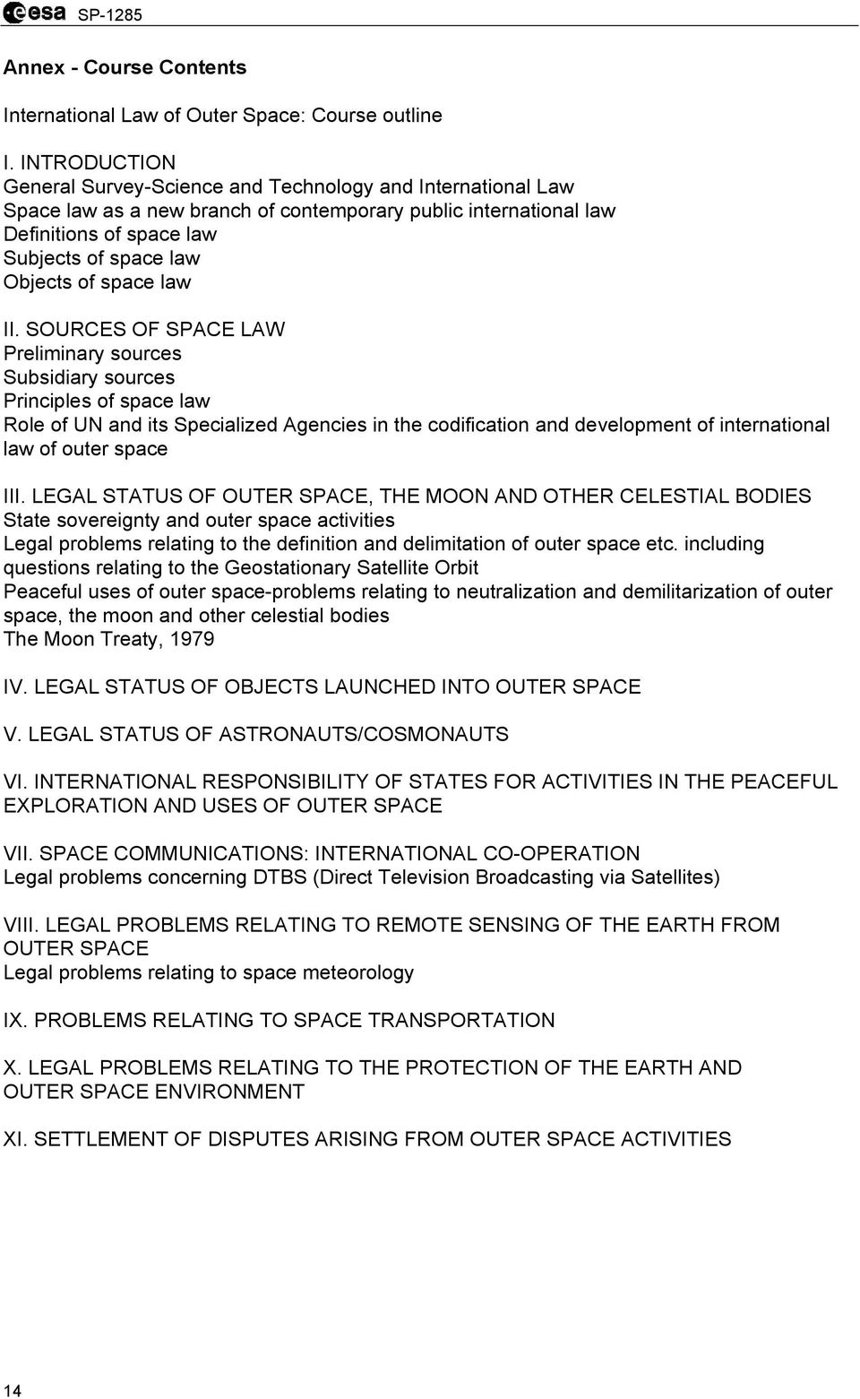 space law II.
