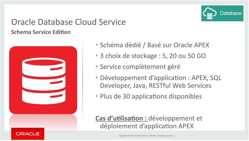 Développement d applicawon : APEX, SQL Developer, Java, RESTful Web Services Plus